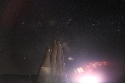 Sternhimmel über El Mano in der Atacamawüste