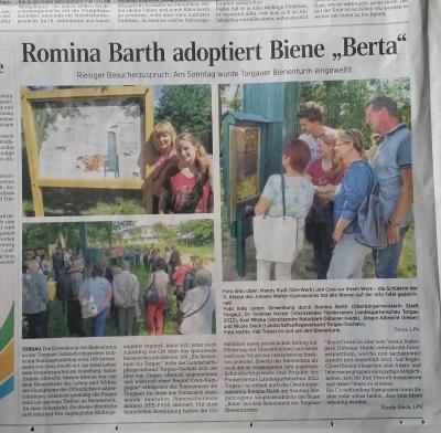 Vorschaubild zur Meldung: Ein Bienenturm für Torgau
