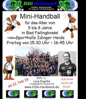 Vorschaubild zur Meldung: Mini Handball Training in Bad Fallingbostel