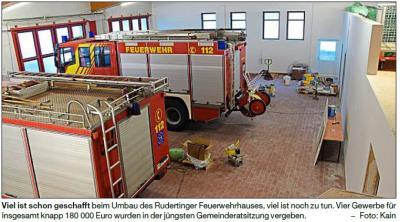 Vorschaubild zur Meldung: Schritt für Schritt zum neuen Feuerwehrhaus
