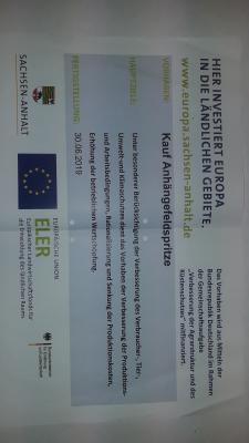 Vorschaubild zur Meldung: Förderung einer gezogenen Felspritze durch AFP Föderprogramm