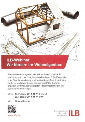 Vorschaubild zur Meldung: ILB-Webinar: wir fördern Ihr Wohneigentum