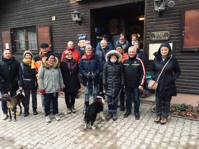 Winterspaziergangs-Gruppe