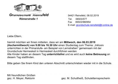 Grundschule Reinsfeld Grundschule Reinsfeld