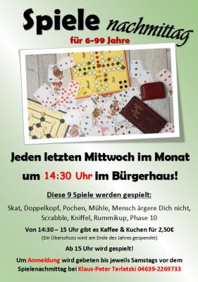 Foto zur Meldung: Spiele-Nachmittag in Schafflund