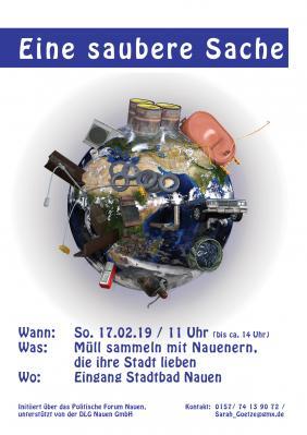 Jeder kann mitmachen bei der Sauberen Sache am 17. Februar!
