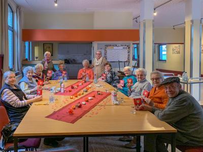 Vorschaubild zur Meldung: Der Valentinstag erfreute auch die Senioren des AWO Ortsvereins