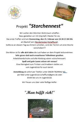 Foto zur Meldung: Storchennest bauen mit dem Jugendclub