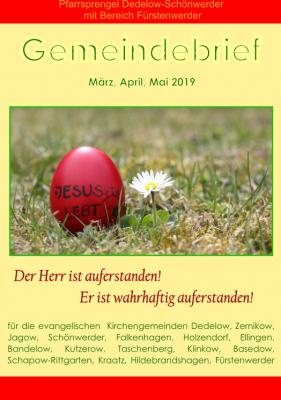 Vorschaubild zur Meldung: Gemeindebrief März bis Mai