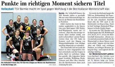 Foto zur Meldung: Titelgewinn für Volleyballerinnen