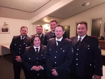 Von links: Chris Hansen, Christine Brodersen, Mirco Hansen, Torge Puschmann, Robert Frahm, Dietz Stange