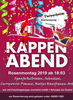 Vorschaubild zur Meldung: Kappenabend am Rosenmontag 04.03.2019