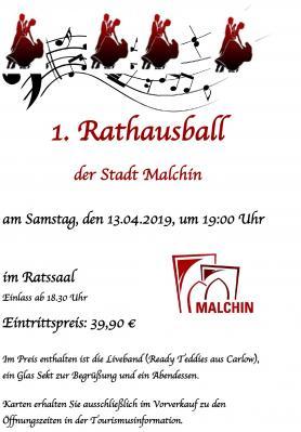Vorschaubild zur Meldung: 1.  Rathausball in Malchin