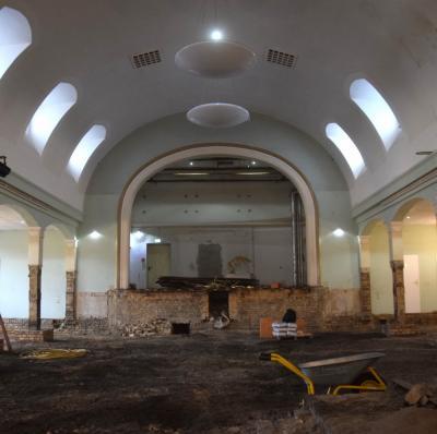 Vorschaubild zur Meldung: Letzte große Bauetappe im Kulturhaus Hörlitz