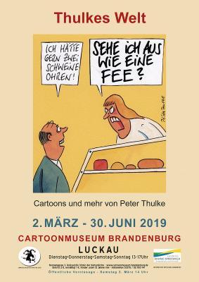 Plakat zur Ausstellung - Motiv von Peter Thulke