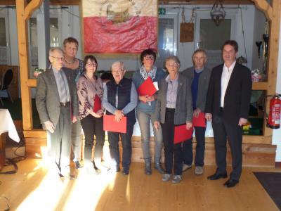 Foto zur Meldung: JHV: Langjährige Mitgliedschaften 50 Jahre