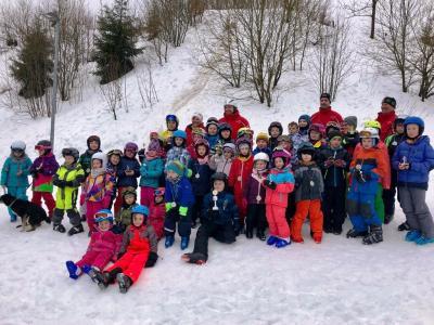 """Foto zur Meldung: """"Rekordbeteiligung"""" war heuer das Motto unserer Skikurse"""