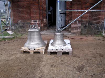 Foto zu Meldung: Die neuen Glocken der Gruhnoer Kirche sollen zu Pfingsten das 1. Mal erklingen