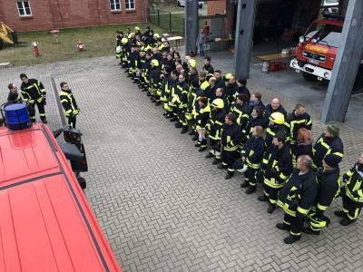 Foto zur Meldung: Einsatzübung der Feuerwehr des Amtes Friesack am 01.03.2019