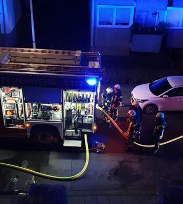 Foto zur Meldung: Feuer in der Thurner Str.