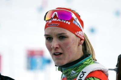 Denise Herrmann ist IBU-Weltmeisterin im Verfolgungsrennen von Östersund - Foto: Joachim Hahne  / johapress