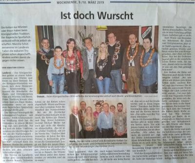 Artikel Münchner Merkur 09./10.03.2019