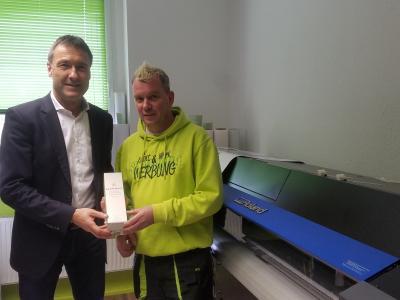 Bürgermeister Klaus Prietzel gratuliert zum Jubiläum