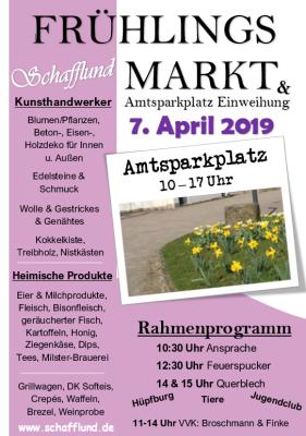 Foto zur Meldung: Frühlingsmarkt & Amtsparkplatzeinweihung
