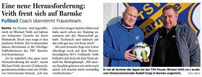Foto zur Meldung: Neuer Trainer für die 1. Frauenfussballmannschaft