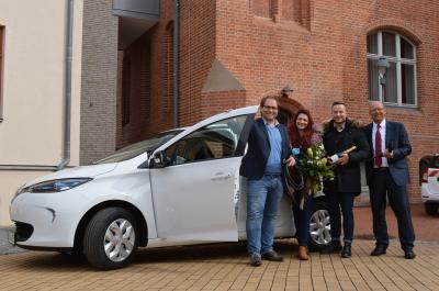 Foto zur Meldung: Stadtverwaltung erhält erstes E-Auto