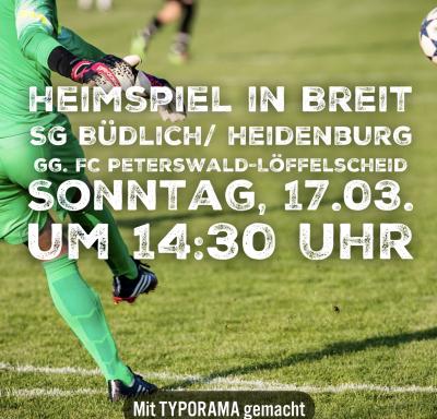 Vorschaubild zur Meldung: Heimspiel gegen in Breit gg. FC Peterswald-Löffelscheid