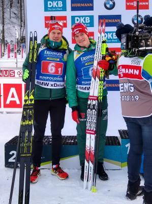 Roman Rees (SV Schauinsland) und Benedikt Doll (SZ Breitnau) starten bei der Biathlon-WM in Östersund/Schweden - Foto: Joachim Hahne / johapress
