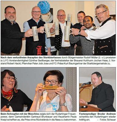 Foto zur Meldung: Starkes Bier und eine gepfefferte Fastenpredigt