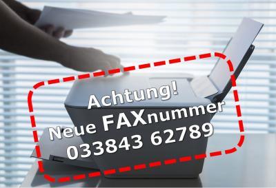 Neue Faxnummer des Amtes Niemegk