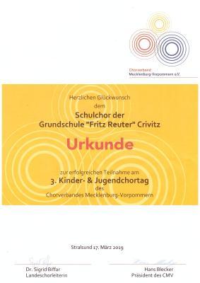 Foto zur Meldung: 3. Kinder- und Jugendchortag des Chorverbandes Mecklenburg-Vorpommern