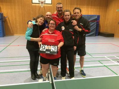 Foto zur Meldung: Zweite Tischtennis-Truppe vorzeitig Meister und aufgestiegen