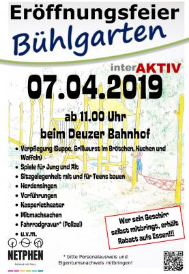 Teilnahme an Eröffnung des Bühlgartens