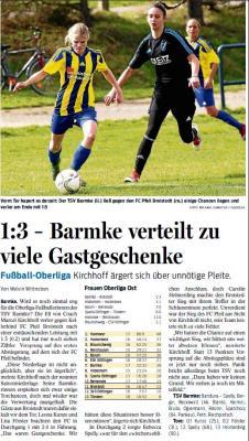Foto zur Meldung: Siege und Niederlagen für den TSV Barmke am vergangenen Wochenende
