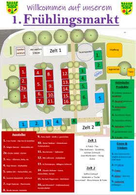 Foto zur Meldung: Frühlingsmarkt - Aussteller und Lageplan