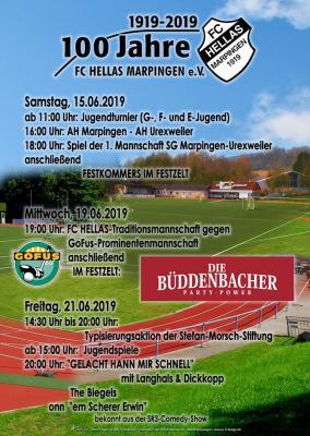 Programm 100 Jahre FC Hhellas