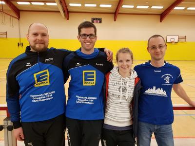 Neuer Vorstand von links Michael, Arne, Anne, Sebastian (es fehlen: Janine (Zonki), Janko)