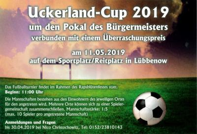 Vorschaubild zur Meldung: Uckerland-Cup 2019