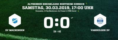 Vorschaubild zur Meldung: Fußball: Altherren gelingt Achtungserfolg gegen Vardeilsen