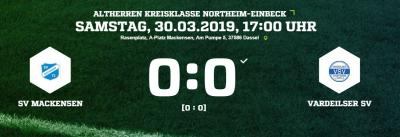 Fußball: Altherren gelingt Achtungserfolg gegen Vardeilsen