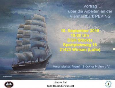 Vorschaubild zur Meldung: Viermastbark PEKING - Vortrag am 10. September 2019 im DGH Stöckte