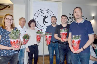 Gewählter Vereinsvorstand vlnr: Nadin, Wulf, Sabine, Mario, Thilo und Lars