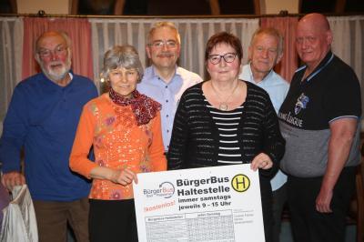 Bild: Nicole Theuer,   v. links: Hermann Bing (Beisitzer), Agnes Ries-Müller (Schriftführerin), Klaus Ries-Müller (Vorsitzender), Edith Gaul (Kassiererin),  Franz Hotzy (Beisitzer), Axel Jänichen (2. Vorsitzender)