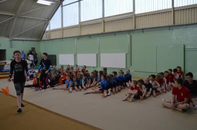 Foto zur Meldung: Kinder- und Jugendsportspiele Gerätturnen in Lauchhammer