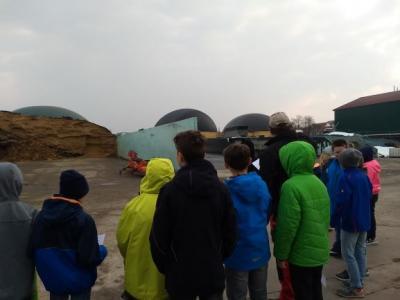 Vorschaubild zur Meldung: 4. Klasse besucht die Biogasanlage