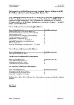 Foto zur Meldung: Wahlausschuss der Stadt Lauchhammer bestätigt